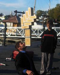 Straßenkünstler in Victoria, Hafen