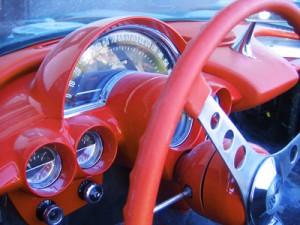 Teile eines alten Autos
