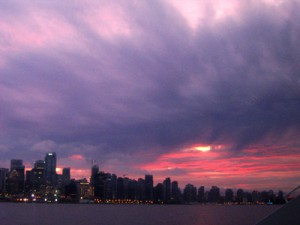 Sonneruntergang über Vancouver