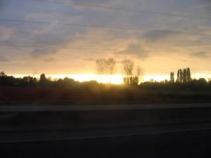 Sonnenaufgang unterwegs
