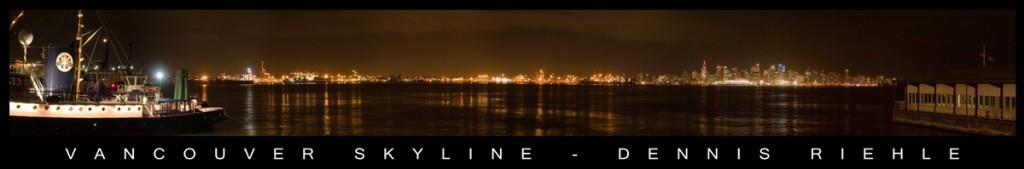 Vancouver Skyline bei Nacht