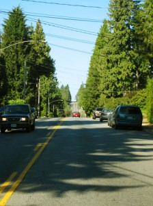Straßenzug in North Vancouver